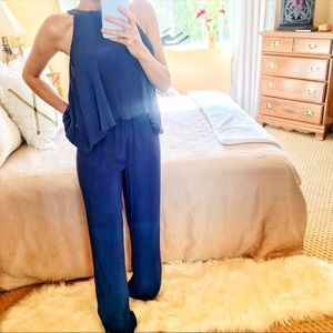 CUPCAKES AND CASHMERE Blue Jumpsuit ⭐️New w/Tags S